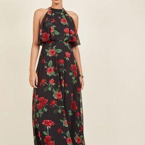 EUC XL MODCLOTH Popover Floral Maxi Dress prom